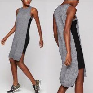 Athleta Grey Merino Wool Midi Sweater Dress